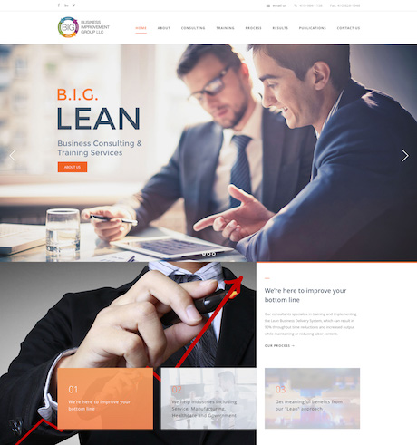 BIG Lean Website Design